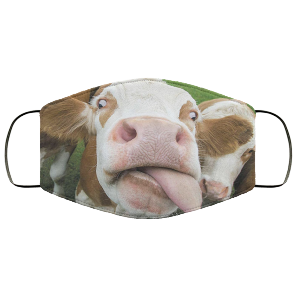 Cow sticking out tongue Face Mask Washable