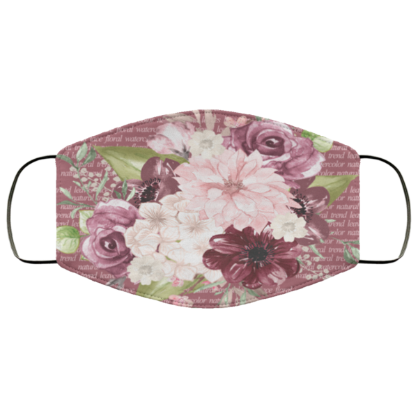 Spring Flowers Face Mask Washable Reusable