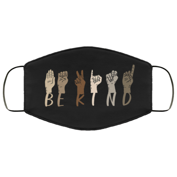 Be Kind Black Lives Matter Face Mask
