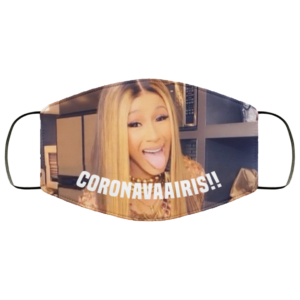 Coronavaairis Cardi B Funny Corona Face Mask