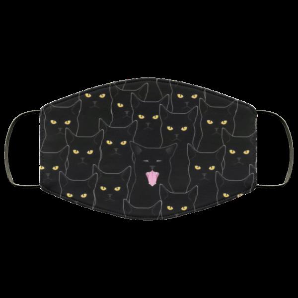 Black Cats Pattern Cloth Face Mask