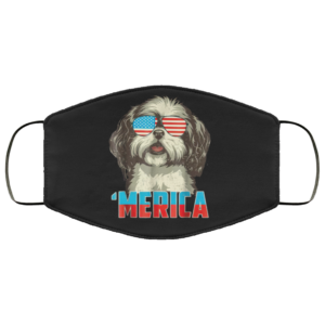 4th Of July Patriot Shih Tzu Merica Face Mask