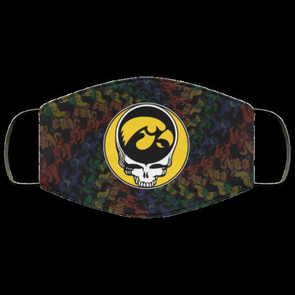 Iowa Hawkeyes Grateful Dead Face Mask
