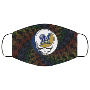 Milwaukee Brewers The Grateful Dead Face Mask