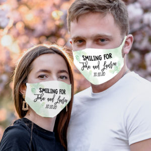 Personalized Couple Mask Smiling For Bride And Groom Face Masks