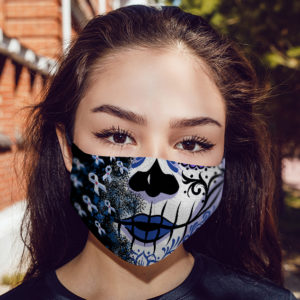 Diabetic Awareness Face Mask Sugar Skull Diabetes Awareness Face Mask