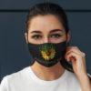 Worlds Dopest Mom Weed Sunflower Face Mask