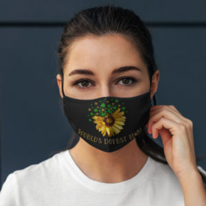 Worlds Dopest Mom Weed Sunflower Face Mask