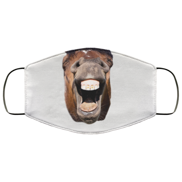 Horse Lovers Mask Funny Horse Face Face Mask