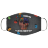 Autism Warrior Fighting For My Son Washable Reusable Custom Autism Awareness Face Mask Cover
