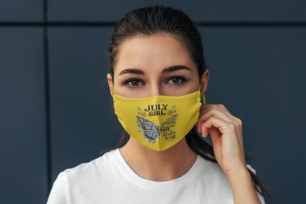 Butterfly July Girl They Whispered to Her I Am the Storm Face Mask Reusable