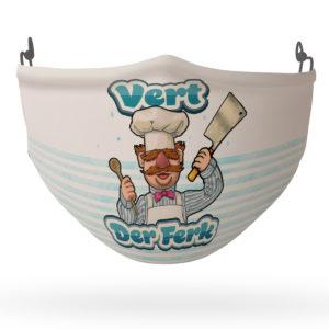 Chef Vert Der Ferk Funny Face Mask Reusable