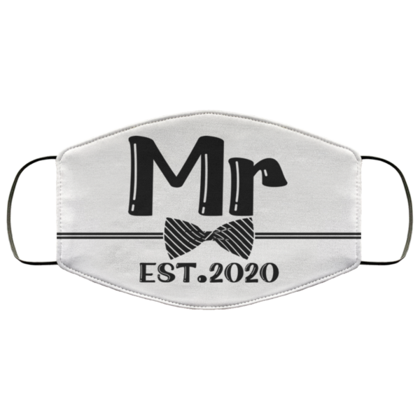 Mr and Mrs Groom 2020 Face Mask