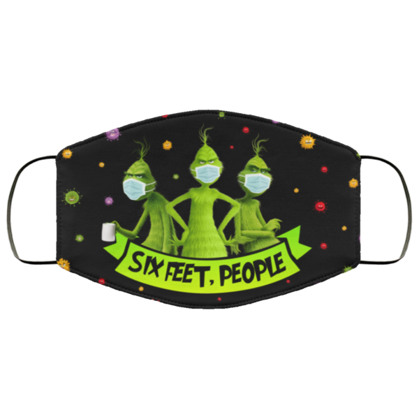Grinch Six Feet People Funny Grinch Face Mask Cover