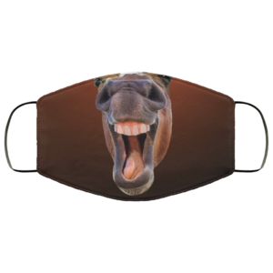Funny Horse Laughing Face Cute Funny Horse Face Face Mask