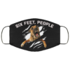 Six Feet People Funny German Shepherd Face Mask