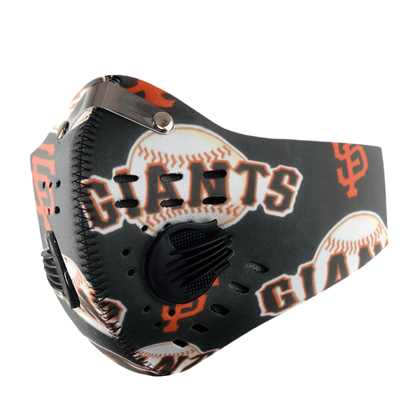 San Francisco Giants Sport Mask Activated Carbon Filter PM2 5