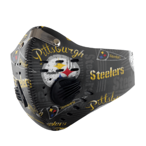 Pittsburgh Steelers Sport Mask Activated Carbon Filter PM2 5