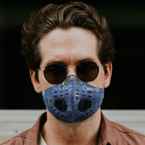 Penn State University Nittany Lions Sport Mask Activated Carbon Filter PM2 5