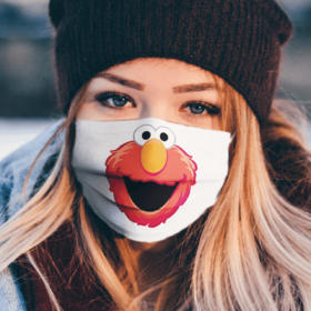Sesame Street Elmo Face Face Mask