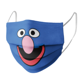 Sesame Street Grover Face Face Mask
