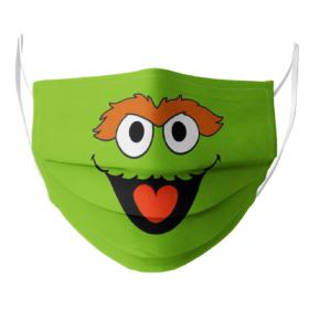 Sesame Street Oscar The Grouch Face Mask