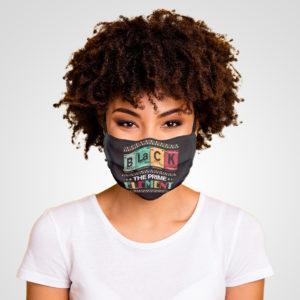 Black the Prime Element BLM Juneteenth Social Justice Face Mask