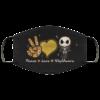 Peace Love Nightmare Face Mask