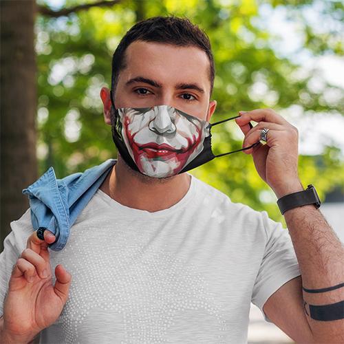 Heath Ledger Scary Joker Mouth Halloween Face Mask