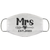 Mr and Mrs Bride 2020 Face Mask