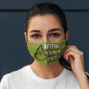 Resting Grinch Face Face Mask