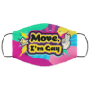 Move Im Gay Pride LGBTQ Face Mask