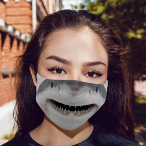 Smiling Shark Cloth Face Mask