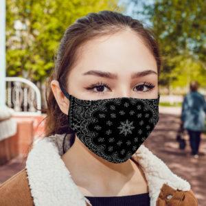 Black Bandana Face Mask