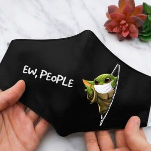 Ew People Baby Yoda Cloth Face Mask Reusable