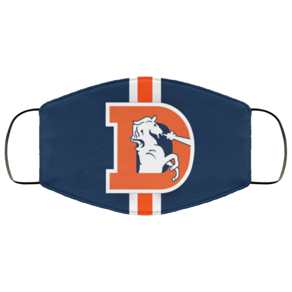 Fan's Denver Broncos Face Mask Cloth Reusable Face Mask