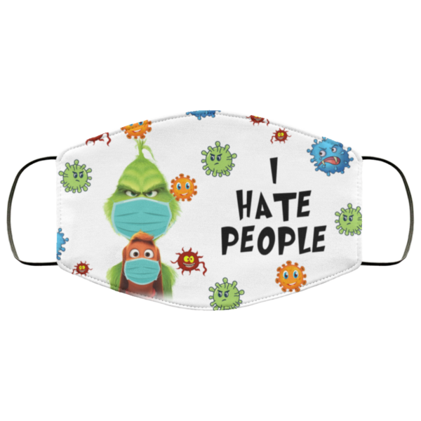 Grinch I Hate People Cloth Face Mask