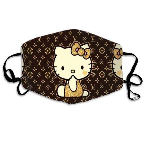 Hello Kitty Louis Vuitton Cloth Face Mask Reusable