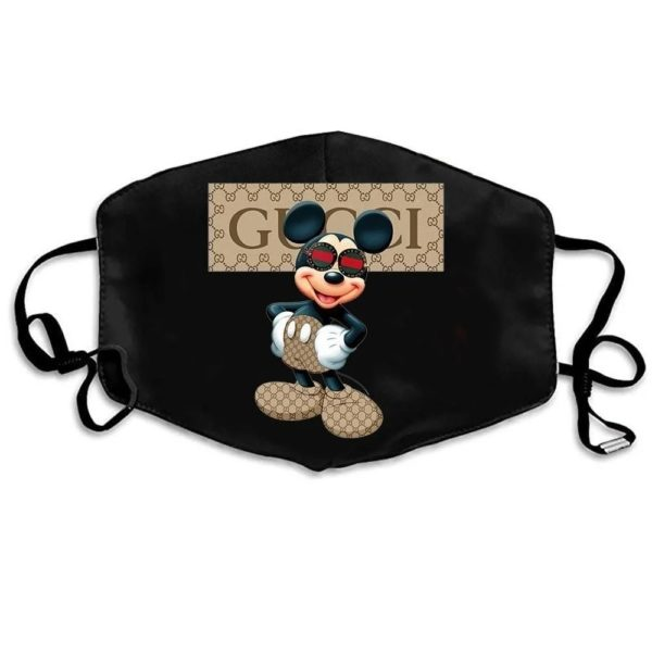 Mickey Mouse Gucci Cloth Face Mask Reusable