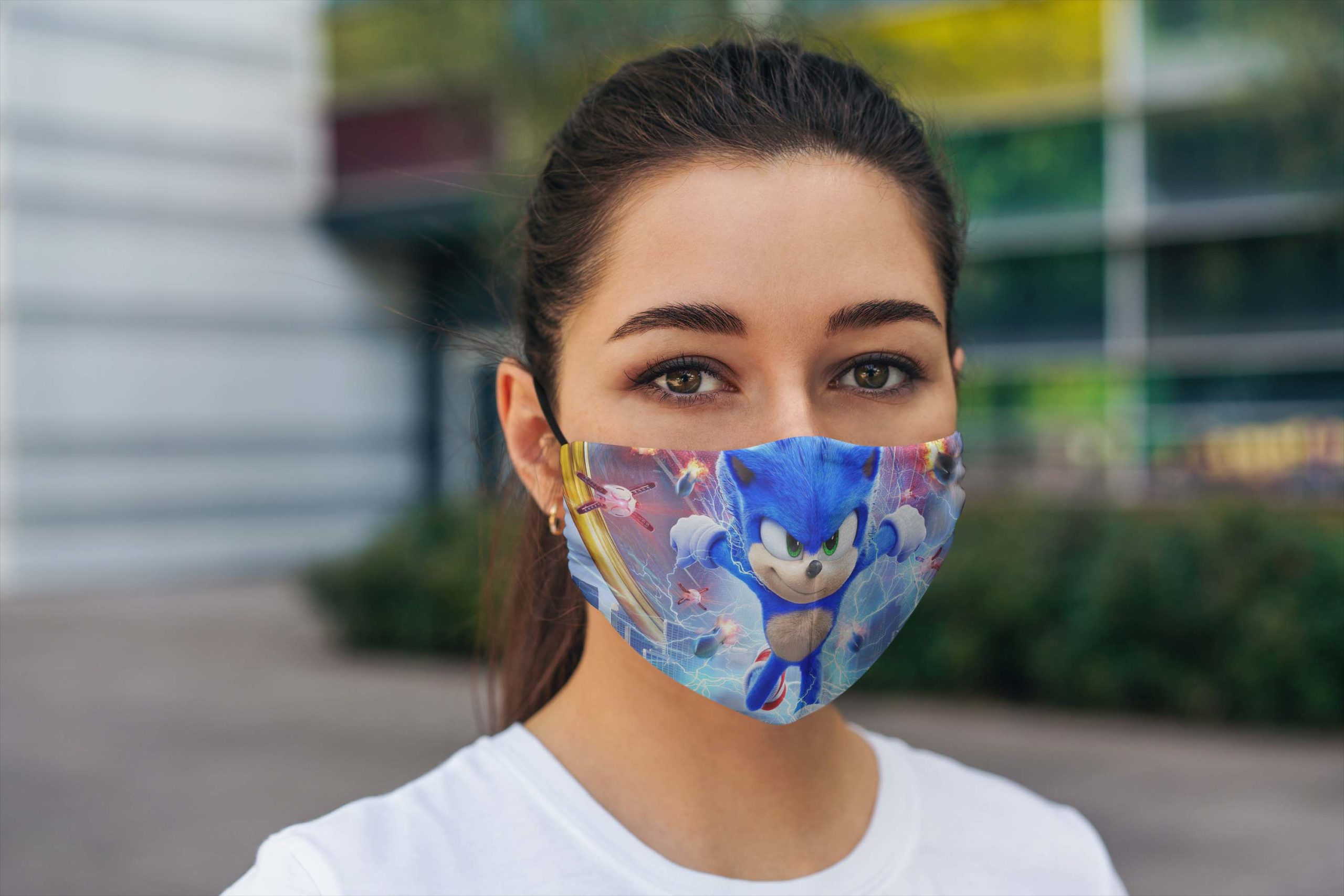 Sonic The Hedgehog Face Mask