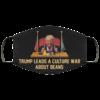 Trump leads a culture war about Beans face mask