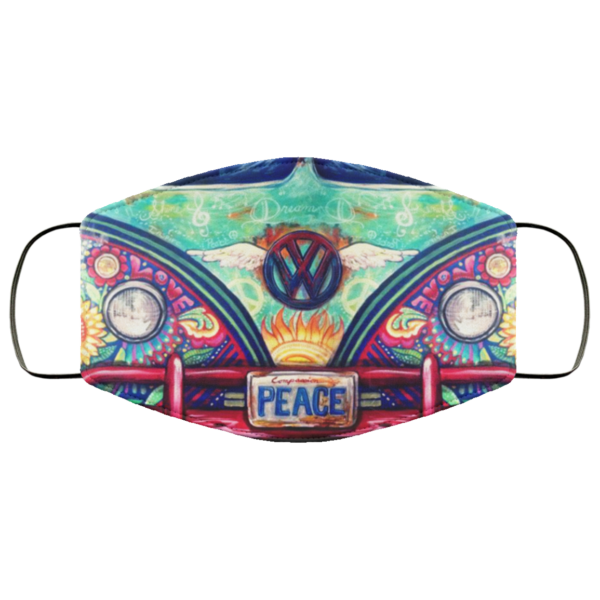 Volkswagen Hippie Bus Peace Cloth Face Mask