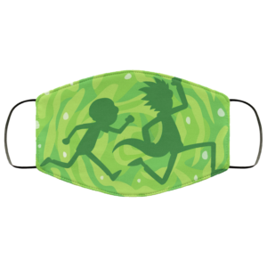 Rick and Morty in the portal Face Mask