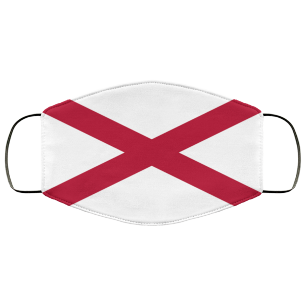 Flag of alabama state Cloth Face Mask Reusable