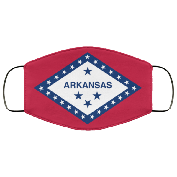 Flag of Arkansas state Cloth Face Mask Reusable