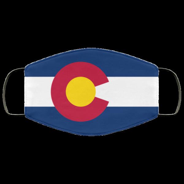 Flag of Colorado state Cloth Face Mask Reusable