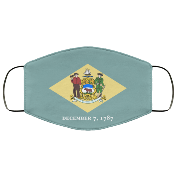 Flag of Delaware state Cloth Face Mask Reusable