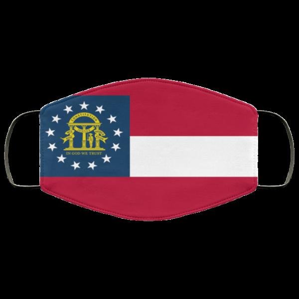 Flag of Georgia state Cloth Face Mask Reusable