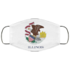 Flag of Illinois state Cloth Face Mask Reusable