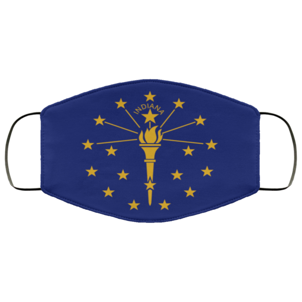 Flag of Indiana state Cloth Face Mask Reusable